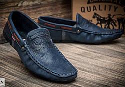 a57610f121613a Levi's демісезонні стильні чоловічі сині мокасини шкіра весна осінь  чоловіче взуття Туреччина Левіс репліка