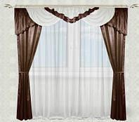 Красивые шторы с ламбрекеном для гостинной