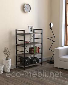 Стелаж низький для дому чи офісу L-125 Loft Design Чорний Матовий / Дуб Палєна