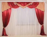 Классические шторы с ламбрекеном