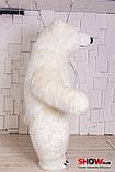 Надувной Костюм ( Пневмокостюм, Пневморобот ) Белый Медведь с Длинным мехом ( мини ), фото 2