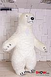 Надувной Костюм ( Пневмокостюм, Пневморобот ) Белый Медведь с Длинным мехом ( мини ), фото 3