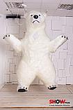 Надувной Костюм ( Пневмокостюм, Пневморобот ) Белый Медведь с Длинным мехом ( мини ), фото 4