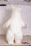 Надувной Костюм ( Пневмокостюм, Пневморобот ) Белый Медведь с Длинным мехом ( мини ), фото 5