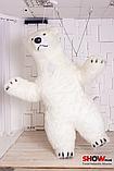 Надувной Костюм ( Пневмокостюм, Пневморобот ) Белый Медведь с Длинным мехом ( мини ), фото 6