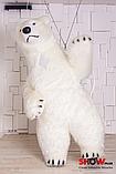 Надувной Костюм ( Пневмокостюм, Пневморобот ) Белый Медведь с Длинным мехом ( мини ), фото 7