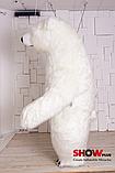 Надувной Костюм ( Пневмокостюм, Пневморобот ) Белый Медведь с Длинным мехом ( мини ), фото 8