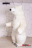 Надувной Костюм ( Пневмокостюм, Пневморобот ) Белый Медведь с Длинным мехом ( мини ), фото 9