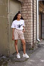 Шорты женские бежевые бренд ТУР модель Kathreen (Кэтрин) размер ХS, S, M, L