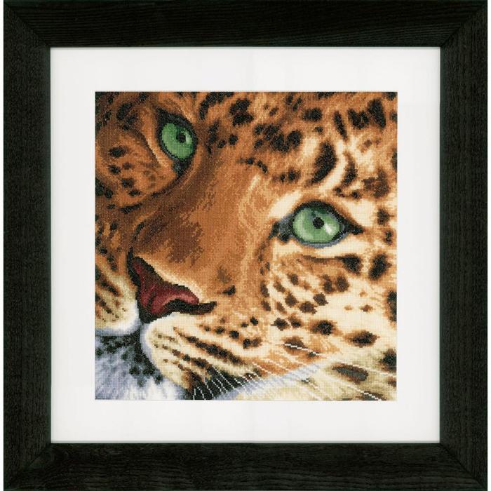 """PN-0155213 Набор для вышивки крестом LanArte Leopard """"Леопард"""""""