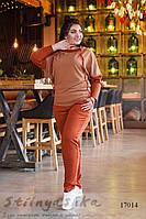 Большой прогулочный костюм с капюшоном терракот, фото 1