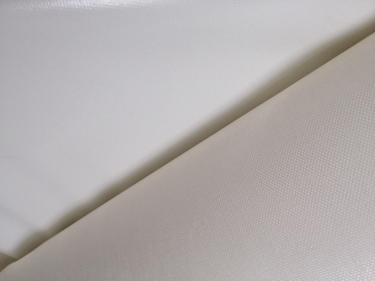 Ткань прорезненная белая для пошива чехлов, тентов, сумок, спецодежды ширина 2.60м