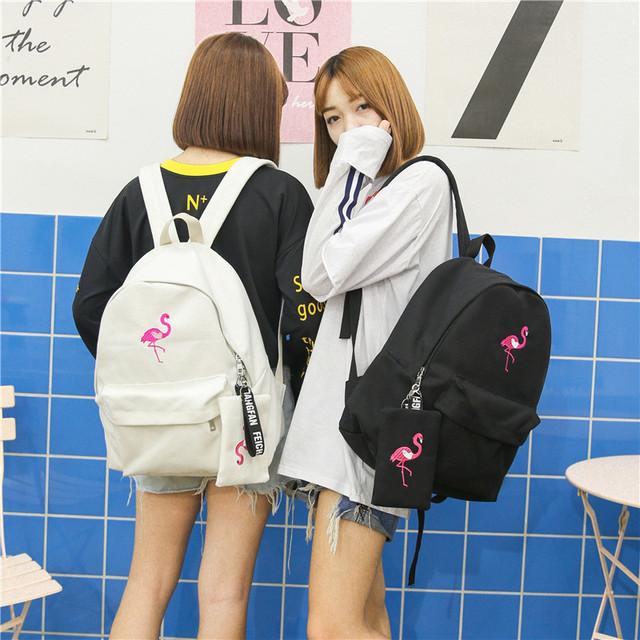 Молодежный рюкзак Фламинго с пеналом