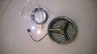 Эмблема Mercedes в решетку с подсветкой