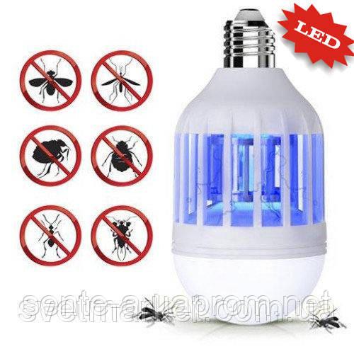 Антимоскитная ловушка и лампа 2 в 1 9W Е27 Sunlight