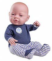 Кукла Paola Reina новорожденная девочка в синем 45 см