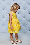 Платье детское с юбкой солнце Короны Желтые , фото 3