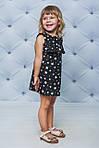 Платье детское с рюшами прямое Белые звезды , фото 2