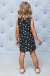 Платье детское с рюшами прямое Белые звезды , фото 3