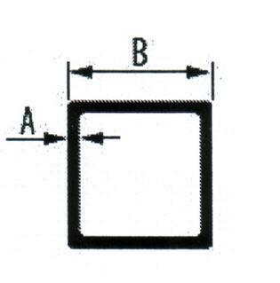 Алюминиеая квадратная труба 40*2 мм