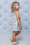Платье детское с рюшами прямое Черные звезды , фото 2
