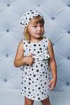 Платье детское с рюшами прямое Черные звезды , фото 3