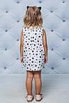 Платье детское с рюшами прямое Черные звезды , фото 4