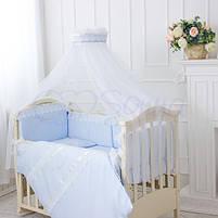 Комплект постельного белья Принц голубой, фото 3
