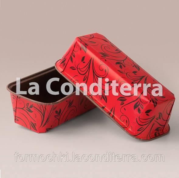 Бумажные формы для выпечки кексов и пирогов Plumpy, красные, прямоугольные 158x54x50 мм