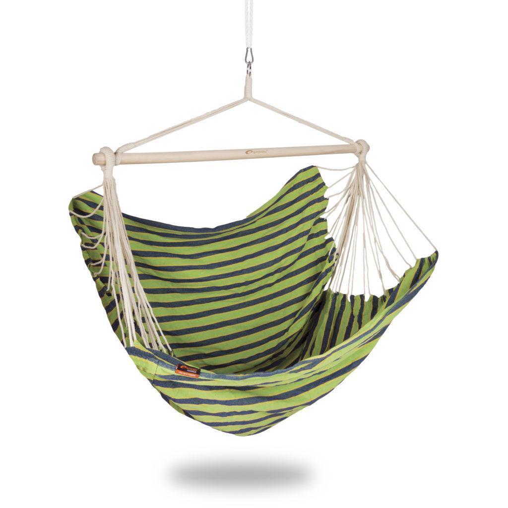 Гамак-крісло Spokey BENCH DELUXE (original) 140 см, бавовна, дерево, підлога-гойдалки