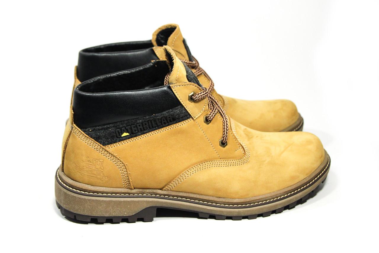 Зимние ботинки (на меху) мужские CAT (реплика) 13041 ⏩ [ 41,41,42,42,43,43,45 ]