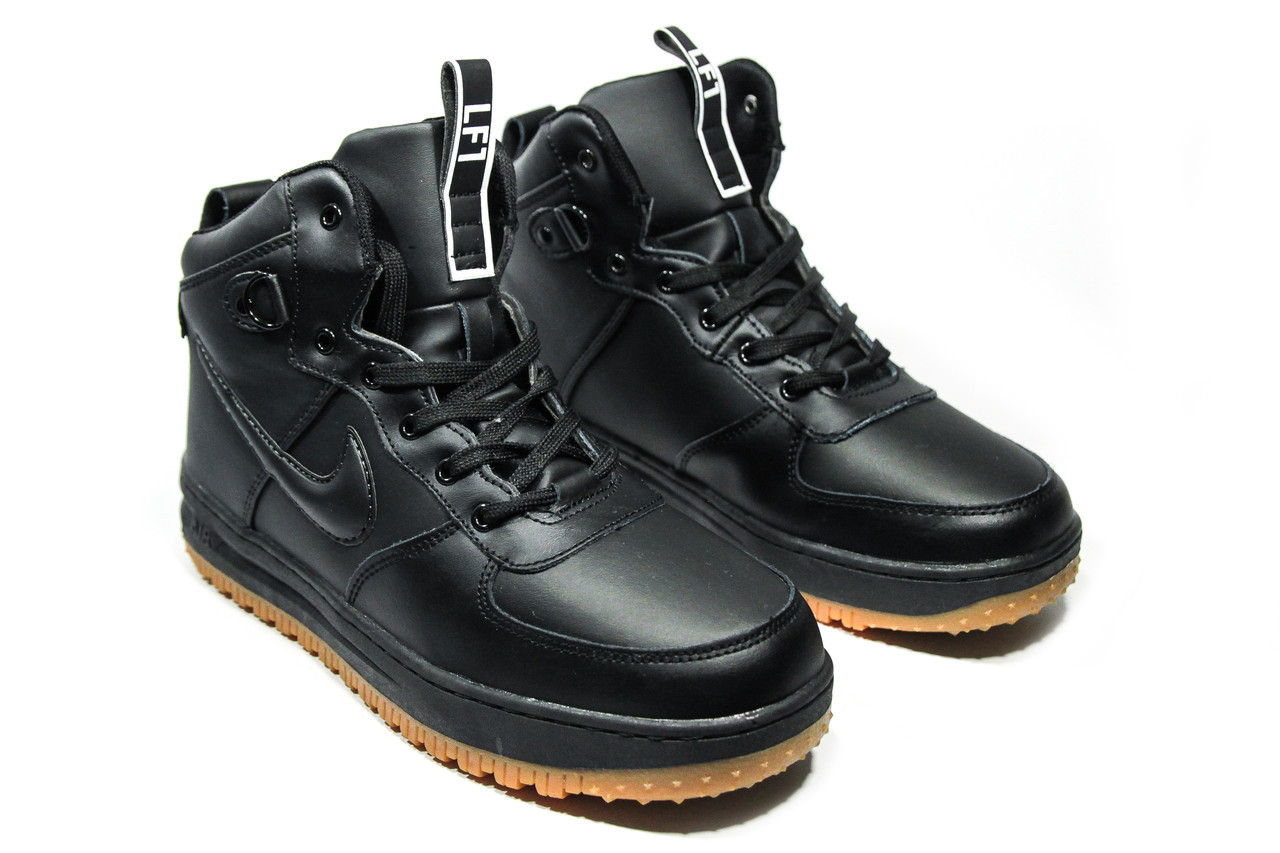 Зимние ботинки (на меху)  мужские Nike AF1 (реплика) 1-031 ⏩ [ 42,45 ]