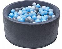 Сухой игровой бассейн Welox 90x40 400 шариков, фото 1