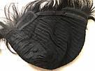 🤵♀️ Мужской черный натуральный парик, короткий, из 100% натуральных волос, фото 9