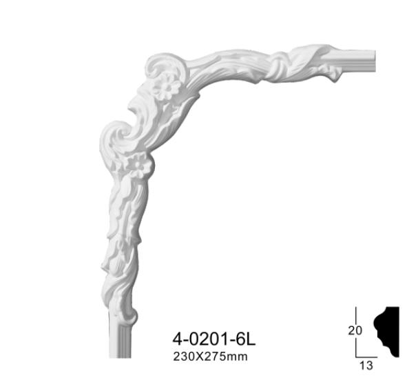 Угловой элемент Classic Home 4-0201-6L/R , лепной декор из полиуретана 230*275