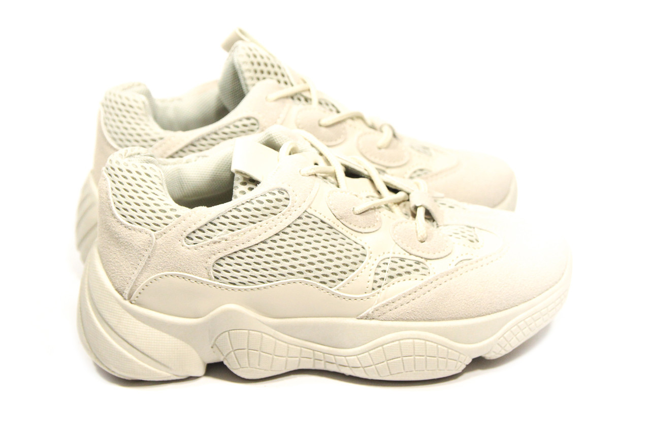 Кроссовки женские Adidas Yeezy 500 Desert Rat Blush  (13-017) ⏩ [ 37.37,39 ]