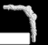 Угловой элемент Classic Home 4-0201-6L/R , лепной декор из полиуретана 230*275, фото 2