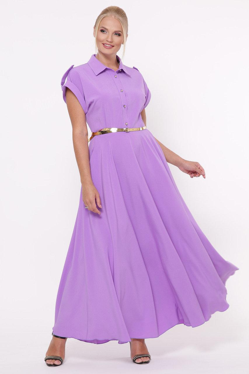 Роскошное платье макси в пол Алена сакура Большие  Размеры 48, 50, 52, 54