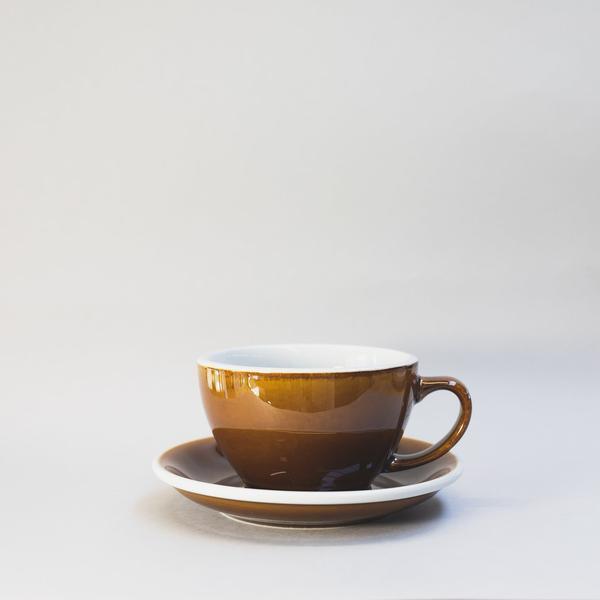 Чашка и блюдце для латте Loveramics Egg Café Latte Cup & Saucer (Caramel) (300 мл)