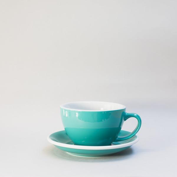 Чашка и блюдце для латте Loveramics Egg Café Latte Cup & Saucer (Teal) (300 мл)
