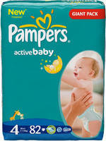 Підгузники Pampers Active Baby 4 maxi (7-14кг) 82 шт.