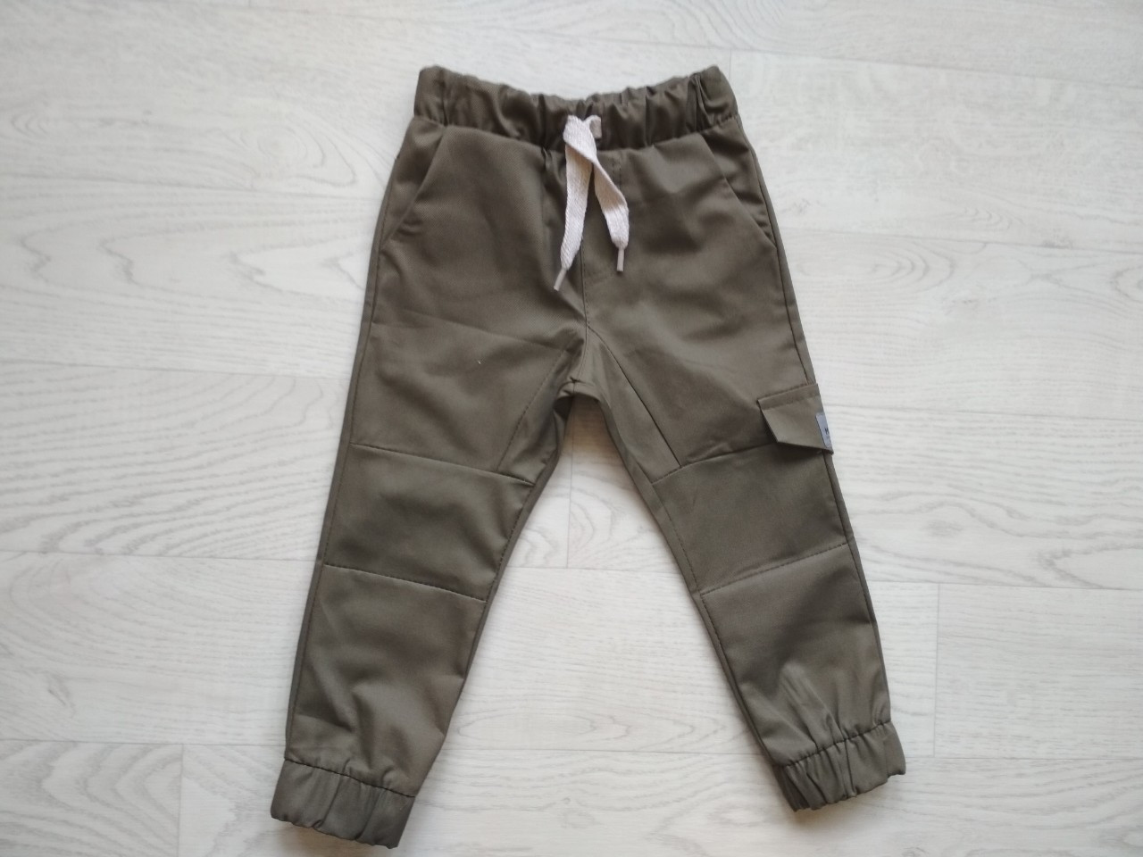 Штаны-джогеры для мальчика Коттон Хаки  р. 92 (54 см)