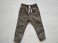 Штаны-джогеры для мальчика Коттон Хаки  р. 92 (54 см), фото 1