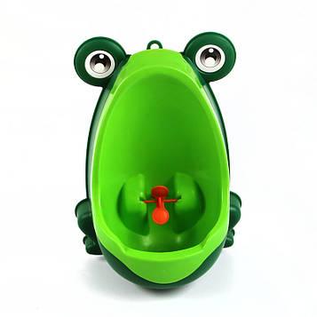 Детский тренировочный писсуар-горшок PottyFrog для мальчиков в виде Жабки Зеленый