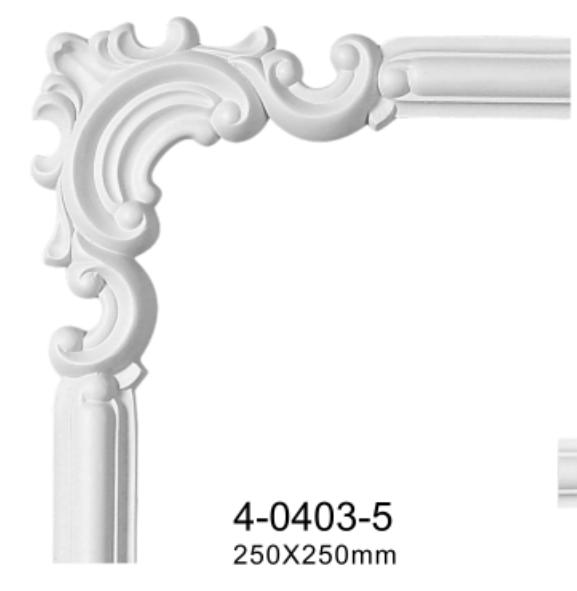 Угловой элемент Classic Home 4-0403-5 , лепной декор из полиуретана 250*250