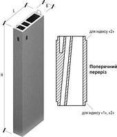 Вентиляционный блок, Вентблоки Вентиляционные блоки железобетонные Вентиляционные блоки ВБС -28 , фото 1