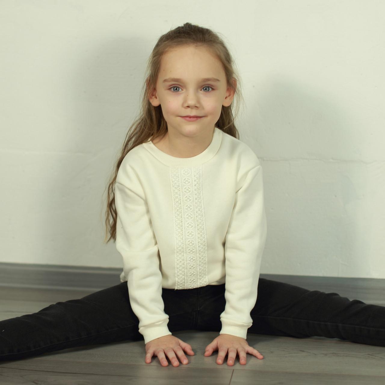 Толстовка (джемпер)  из трехнитки-флис для девочки |Толстовка дитяча