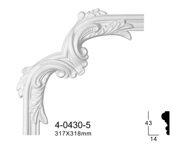 Угловой элемент Classic Home 4-0430-5 , лепной декор из полиуретана 317*318