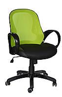 Кресло Матрикс-LB Черный, сиденье Сетка черная/спинка Сетка салатовая (AMF-ТМ)