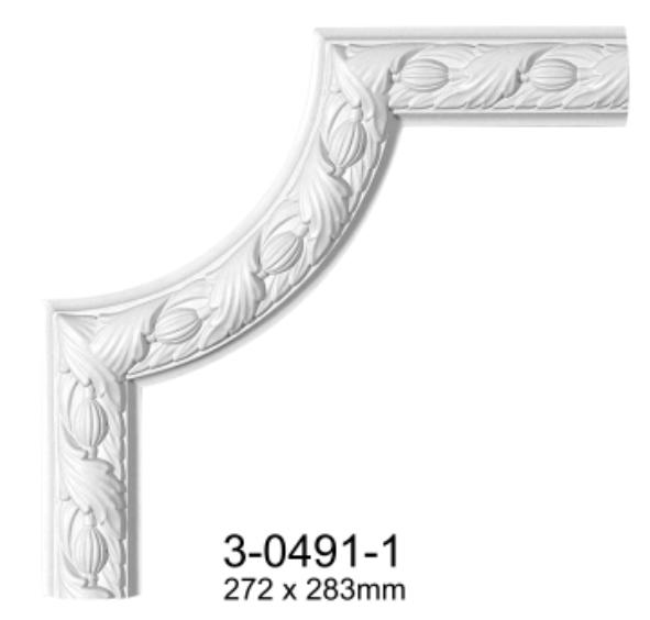 Угловой элемент Classic Home 3-0491-1 , лепной декор из полиуретана 272*283